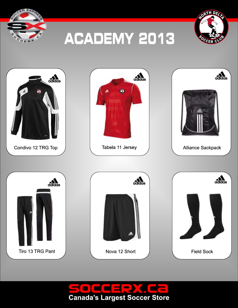 2013 Academy Gear.  Click on the image for a larger view.