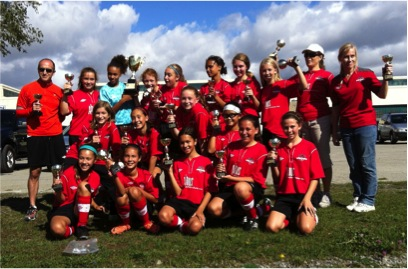 U12 Girls win 2012 TSA Championship